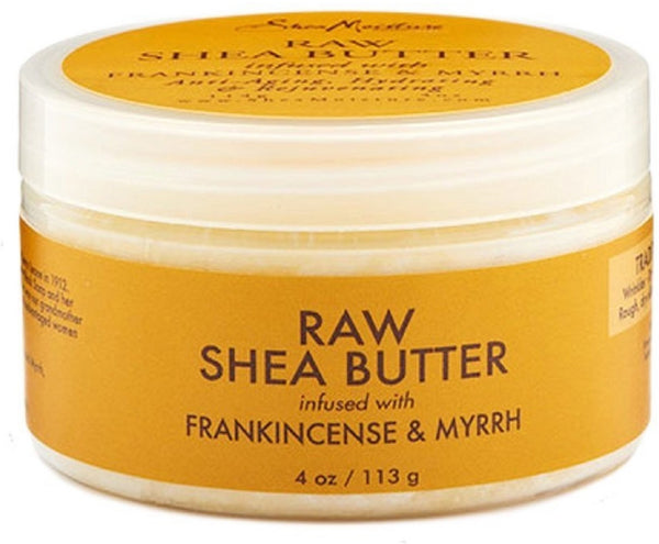 Shea Moisture Raw Shea Butter infused with Frankincense & Myrrh 4 oz / 113 gram