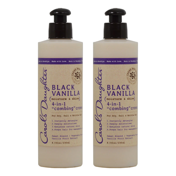"Carol's Daughter Black Vanilla 4 in 1 Combing' Creme, 8 Oz ""Pack of 2"""
