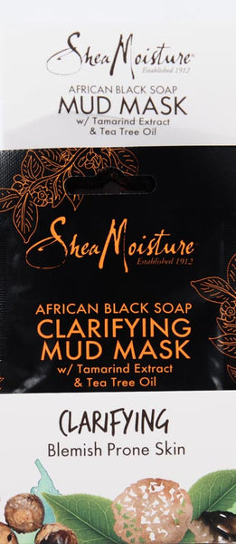 SheaMoisture African Black Soap Clarifying Mud Mask, 0.5 fl oz