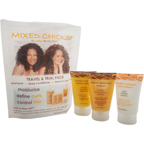 Travel & Trial Pack by Mixed Chicks for Unisex, 3 Pc Kit