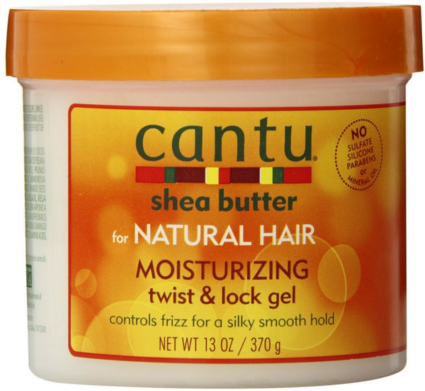 Cantu Moisturizing Twist & Lock Gel, 13.0 oz (Pack of 6)
