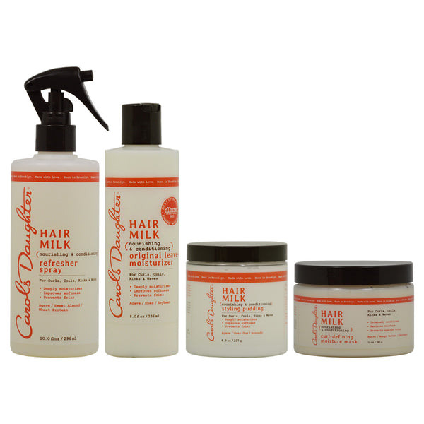 "Carol's Daughter Refresher Spray & Leave in Moisturizer & Styling Pudding & Curl Defining Moisture Mask ""Combo"""