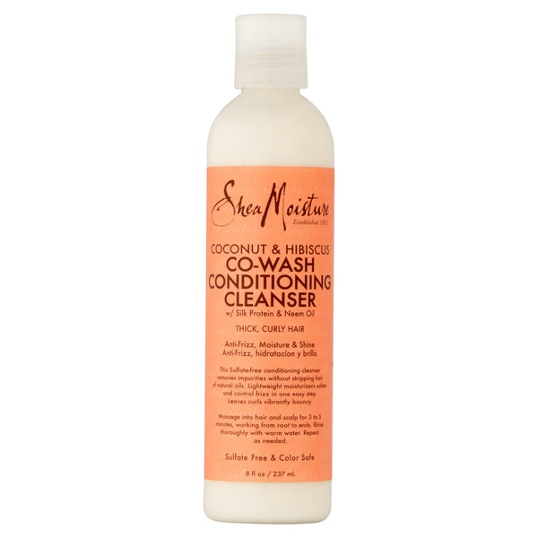 Shea Moisture Coconut & Hibiscus Co-Wash Conditioning Cleanser, 8 fl oz