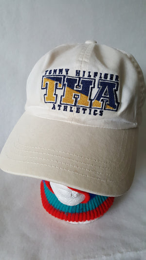 Vintage Tommy Hilfiger Athletics buckle strapback dad hat