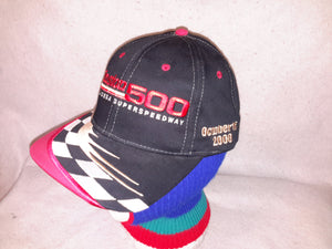Vintage 90s Nascar Winston Cup 500 Checkered Flag snapback  adjustable Block Head  Retro Cars Racing hat WWVSE cap
