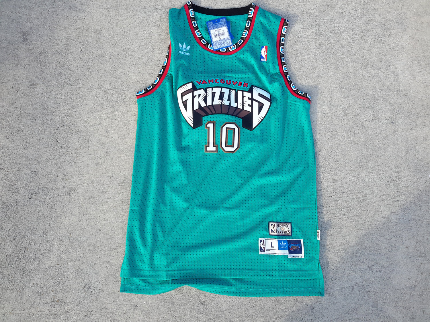 Vtg Vancouver Grizzlies Mike Bibby Jersey NBA Throwback