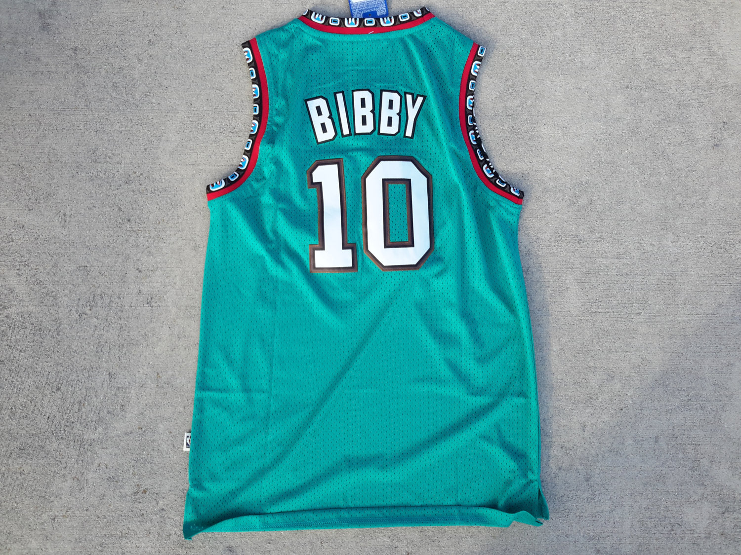 huge discount 7510f d2706 Vtg Vancouver Grizzlies Mike Bibby Jersey NBA Throwback ...
