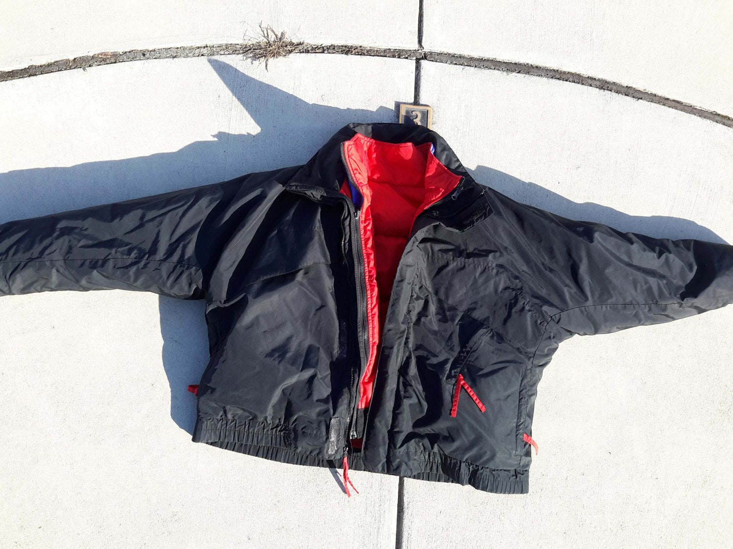 Vtg 90s COLUMBIA 3in1 Black Red Purple Ski Coat Retro Down Jacket Sz Extra Large