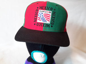 Vtg 1994 Fifa World Cup Team Mexico Snapback hat cap Football Futbol