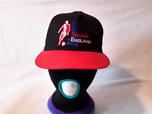 Vtg England Soccer Roman snapback hat cap Football Futbol Made in USA