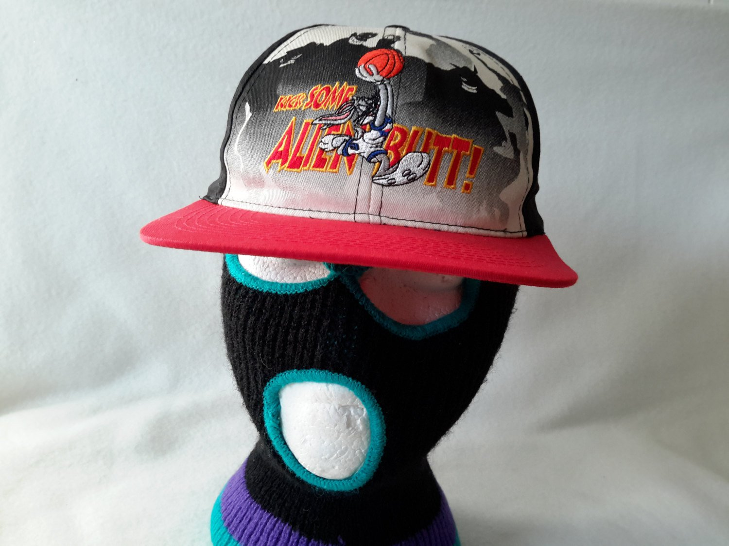 4ad90fd87083 Vtg 1996 Space Jam Kick Some Alien Butt DEADSTOCK Snapback Bugs Bunny  Monstars Looney Tunes