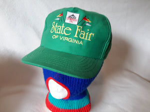 Vtg State Fair of Virginia Strawberry Hil snapback hat cap