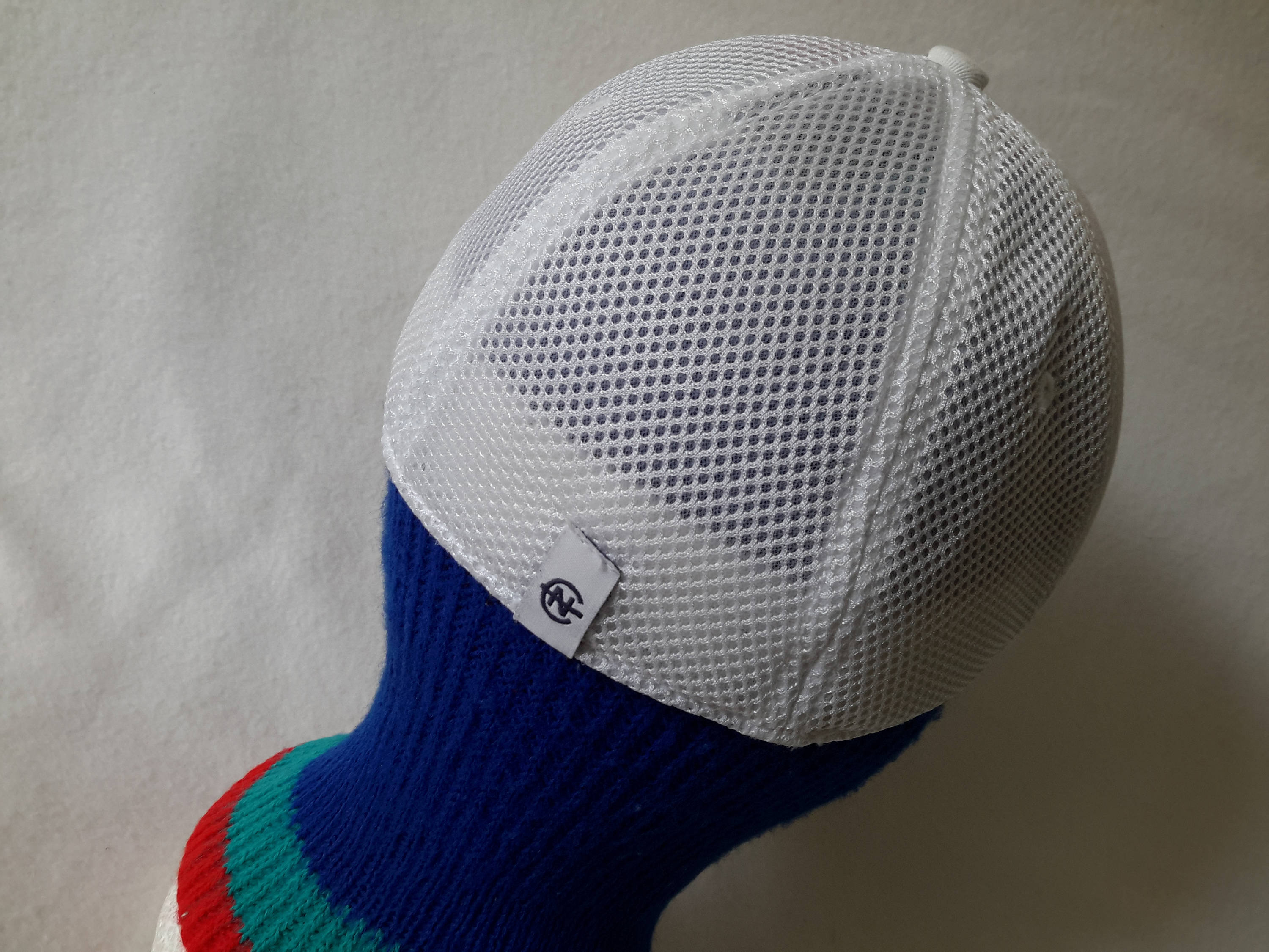 Vtg Nautica Competition White OSFA Flex Fit Nautech Fleece hat boat cap Retro Dope polo sport tommy Hilfiger