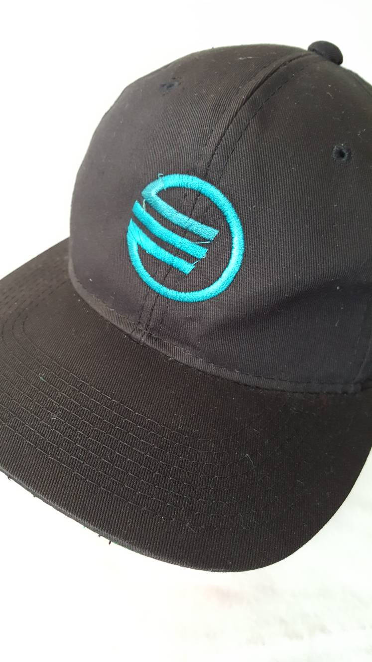Vtg Earth Tech  snapback hat 90s tech computer engineer geological Earth