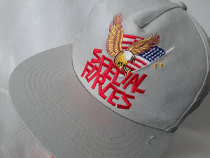 Vtg Special Forces 80s snapback hat United States  Military ops CIA Seal Team America