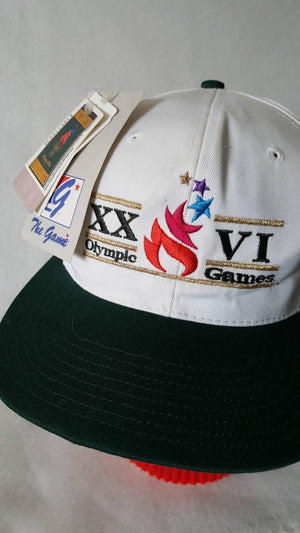 Vtg DEADSTOCK 1996 Atlanta Olympics the game split bar Snapback hat with tags nos free shipping