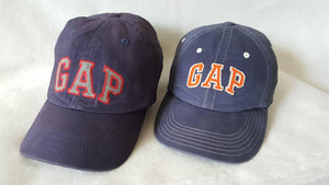 Vtg 90s Gap  Adjustable leather Strapback two hat lot Preppy cap size small Medium Free Shipping Sale