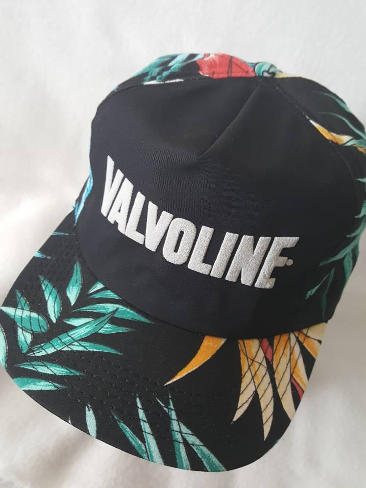 8965fe4ce481a0 ... germany vtg valvoline floral print snapback hat fresh prince of bel air  made in usa cap