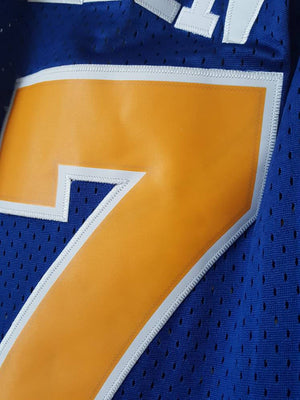 Golden State Warriors Chris Mullin Champion Jersey Sz Med #17 Retro throwback