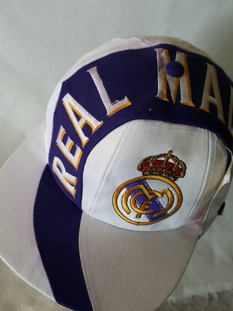Vintage Real Madrid Soccer Snapback with tags hat cap Ronaldo Spain FIFA