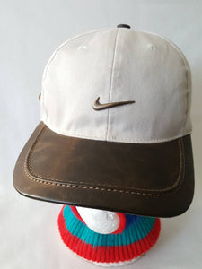 d8e59f5d1cce9 Vintage Nike Golf Premium Leather Strapback Dad hat Bougie ...