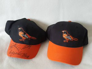 2 Vtg Baltimore Orioles Black snapback Dad hat cap Bird Cal Ripken Machado  Crush Davis 30b71368f05