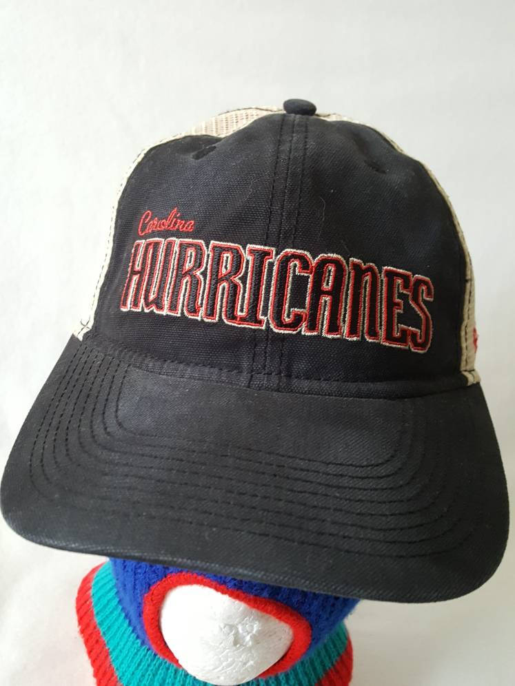 Vtg Carolina Hurricanes Reebok trucker Snapback hat cap Hockey