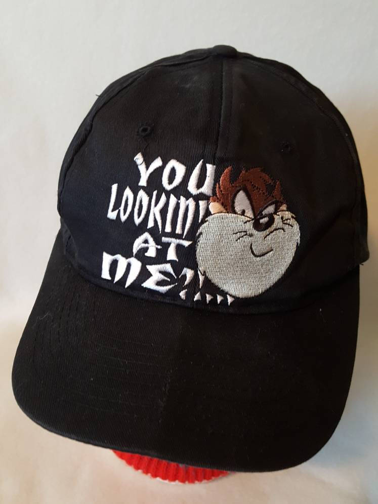 Vtg 90s You Lookin at Me Taz  snapback hat cap 1996