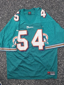 Vintage Miami Dolphins Zach Thomas #54 football Jersey sz Large