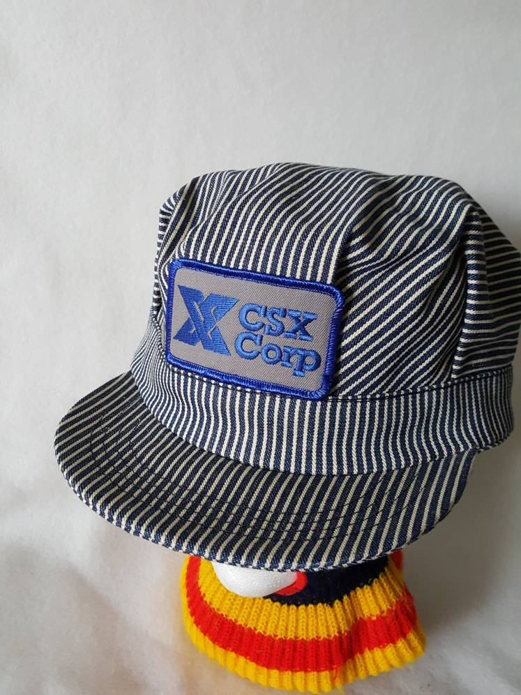 Vtg CSX Transportation Train Conductor hat + CSX trucker hat bundle free shipping