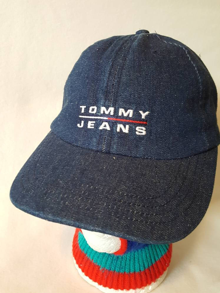 Vtg Tommy Jeans Denim  Navy Blue Spell out Free shipping