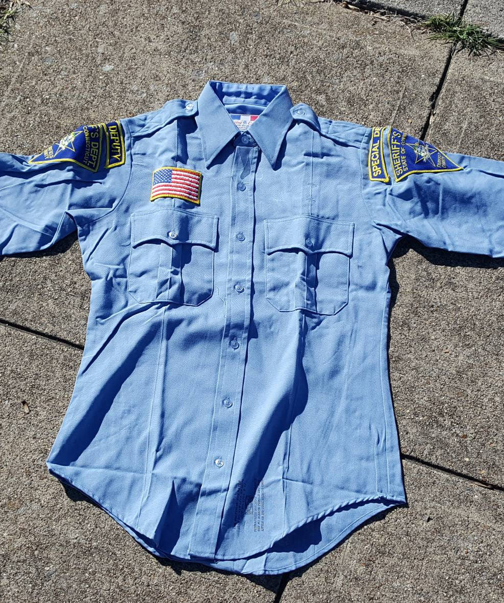 Vtg Sheriffs Dept. Special Deputy Fairfield County button down shirt Size 44