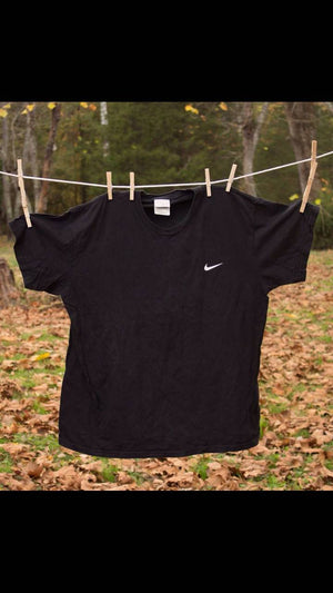 Vintage Nike Black  Tee shirt Size XLarge  Health goth Workout