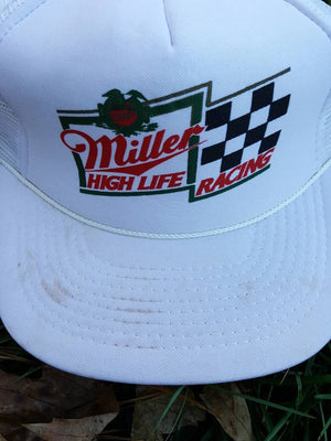 19b6a0f41640c Vintage Miller High Life Racing hat adjustable snapback cap alcohol beer  party