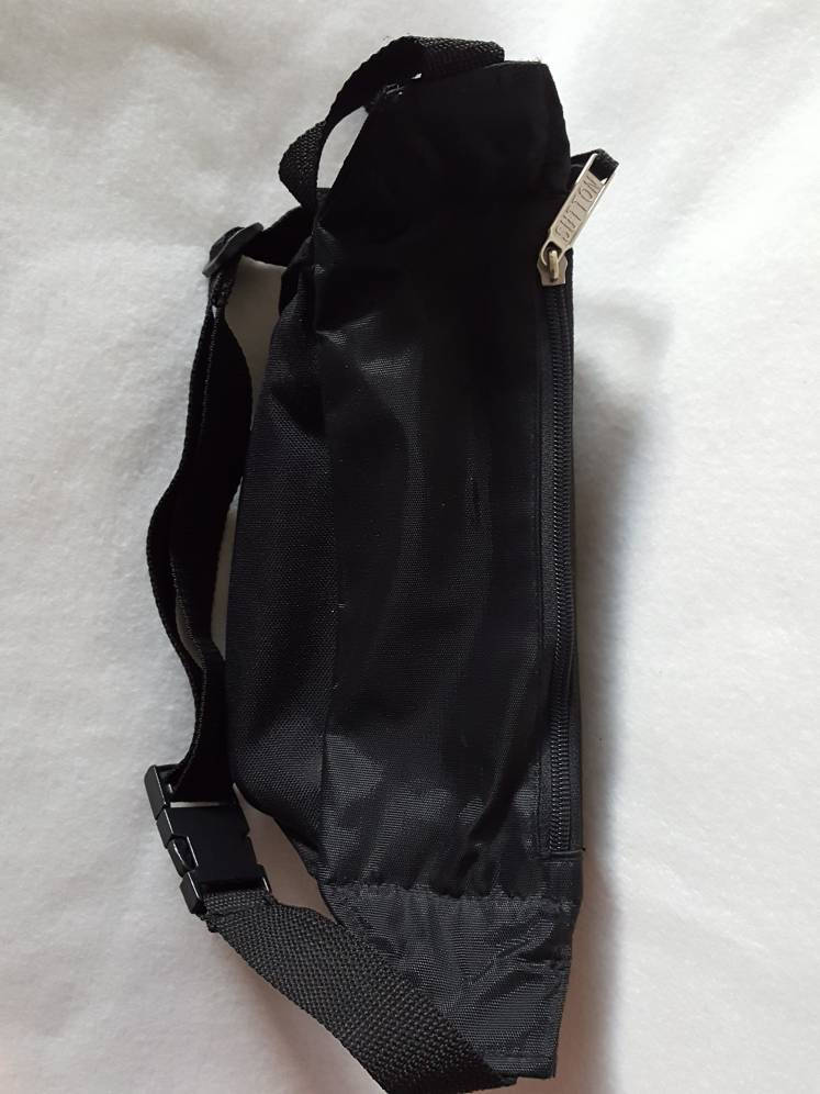 Vtg Trailmakers Black Fanny Pack Waist Bag