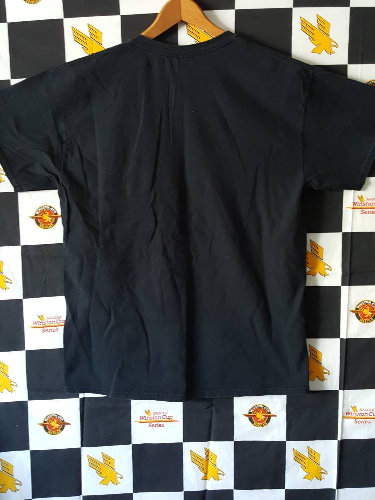 Vtg  Mustang Ranch Quality Control black Tee sz large