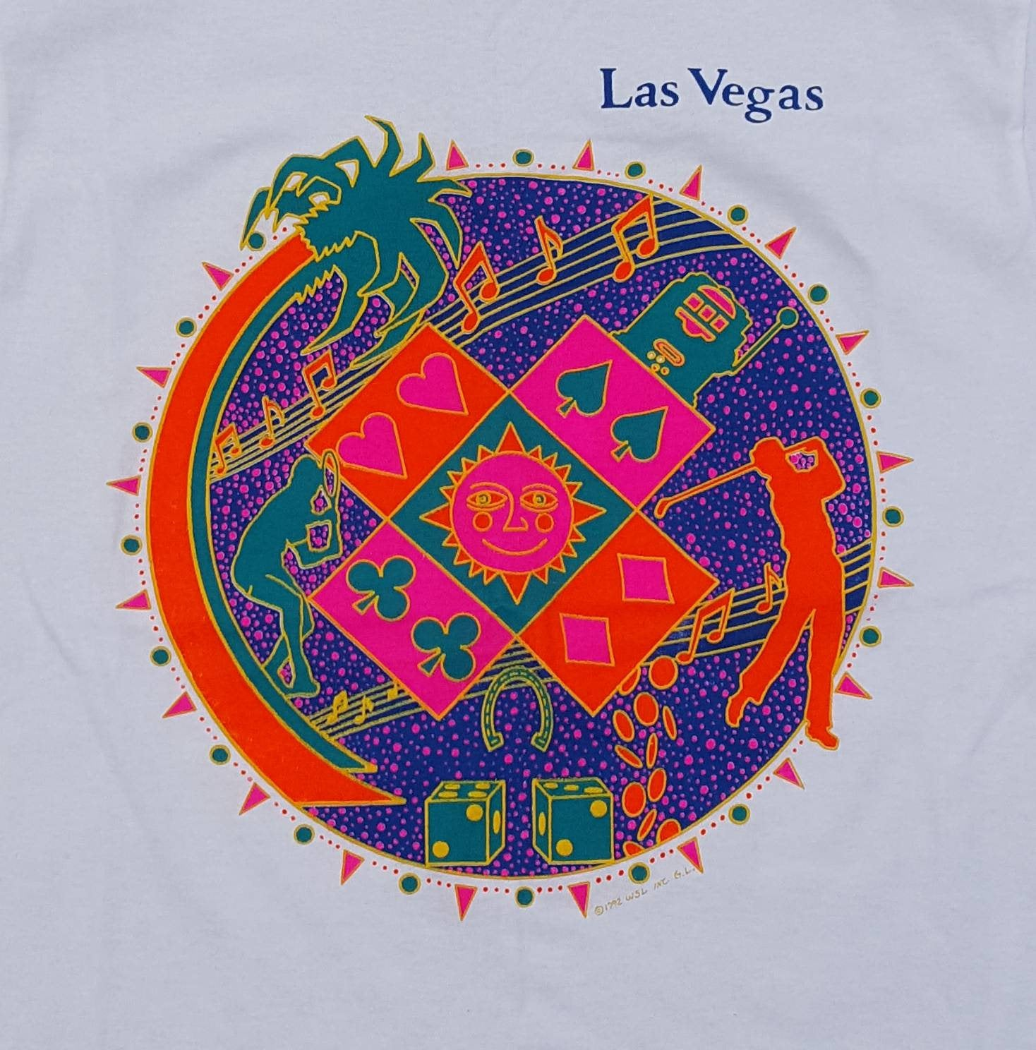 Vtg 1992 Las Vegas  tee shirt sz large casino golf location