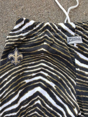 Vtg Saints Zubaz Pants Harem Lounge Wear New Orleans Football XL XXL NFL