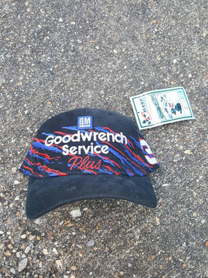 Vtg Dale Earnhardt Sr. #3  Goodwrench Service Plus paint splash style hat Nascar Racing cap