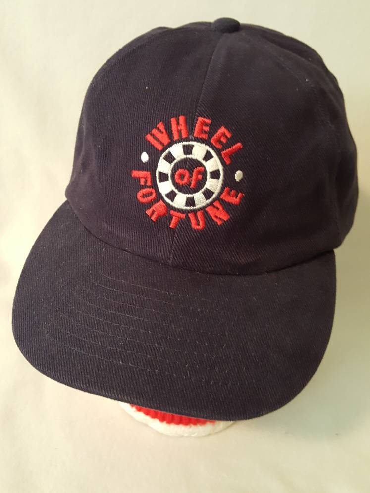 Vtg Wheel of Fortune TV Game Show Snapback hat Pat Sajak
