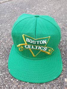 Vtg  Boston Celtics Nutmeg  AJD NBA snapback hat Larry Bird Made In USA