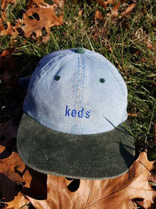 Vtg Denim  keds Feel Good dad hat suede brim Retro 90s shoes