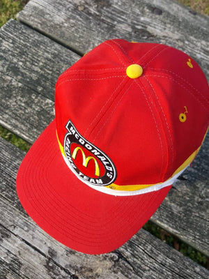Vtg McDonalds Racing Bill Elliott Snapback fast food hat Nascar Winston Cup