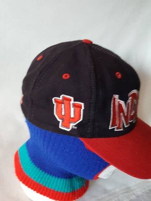 Vtg  Indiana Hoosiers Fitted cap 7 1/4 hat top of the world  Indianapolis College Basketball March Madness