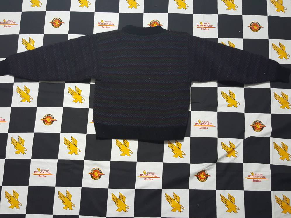 Vintage 80s Woolrich Fox Hunt Knit sweater Polo Horseback