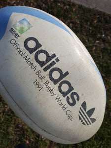 Vtg 1991 Adidas Rugby World         Cup ball Webb Ellis