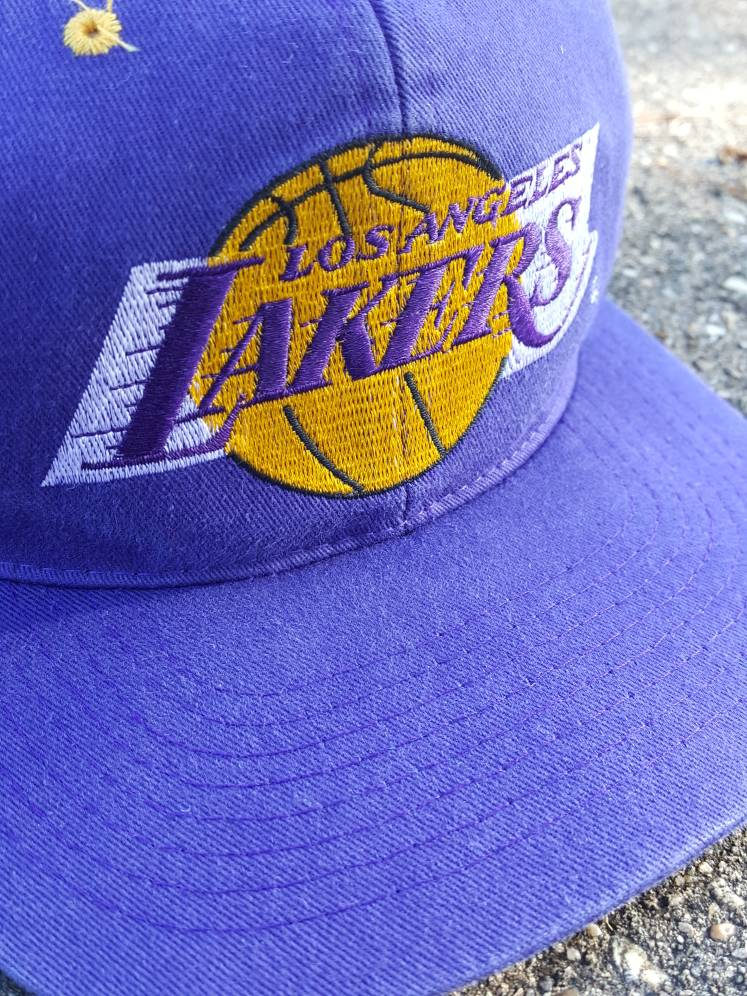 Vintage Los Angeles Lakers Drew Pearson Plain Logo Snapback hat