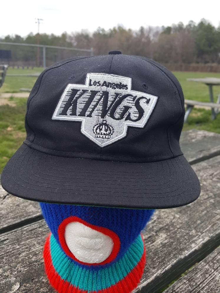 Vtg LA Kings 90s Universal snapback hat NHL adjustable Hockey cap Wayne Gretzkey