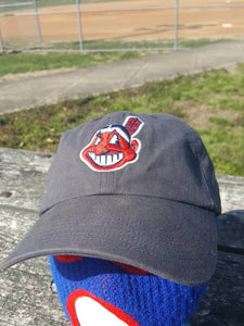 Vtg Cleveland Indians Dad hat 90s Chief Wahoo cap MLB Kenny Lofton Albert Belle