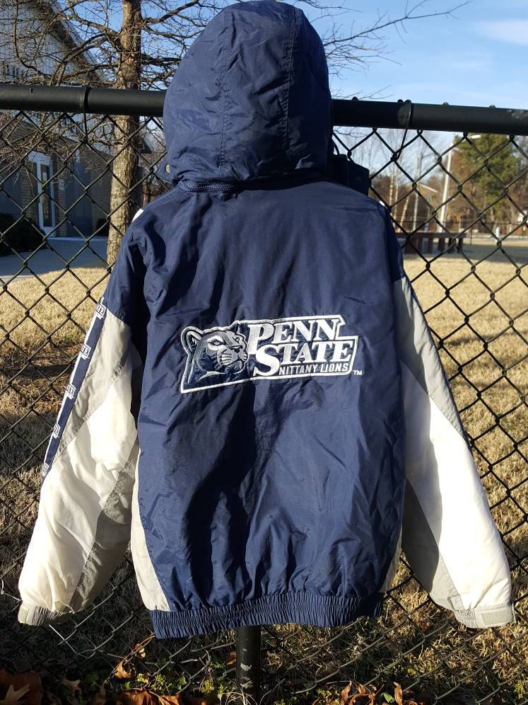 Vtg Penn State Nittany Lions 90s  Full Zip puffer Turbo Jacket Size XL college football basketball